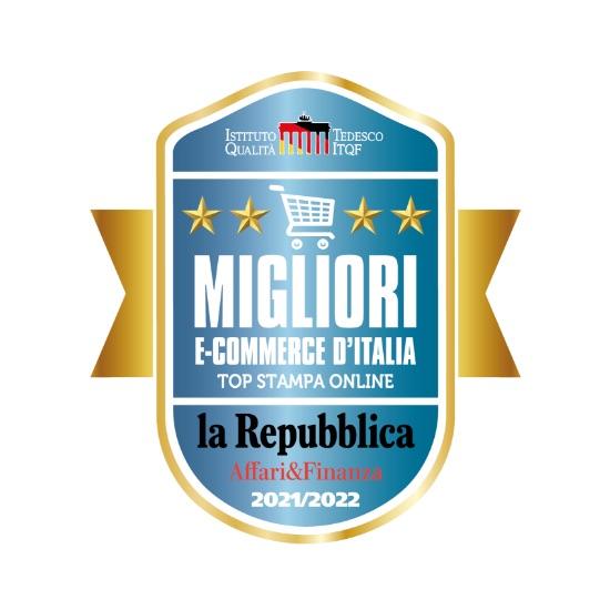 Sito e-commerce di Stampa Digitale Online TOP in Italia secondo ITQF e La Repubblica