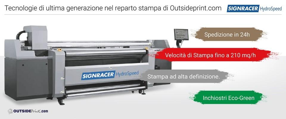 Stampa 100 Manifesti 200x140 blue back