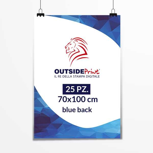 25 Manifesti 70x100 blue back
