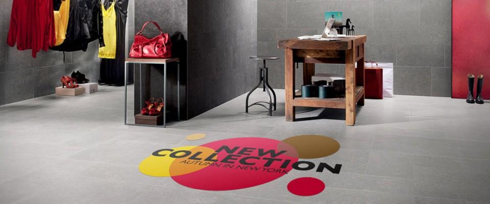 Adesivi per pavimenti. Si tratta di un sistema decorativo calpestabile per rinnovare le piastrelle del pavimento