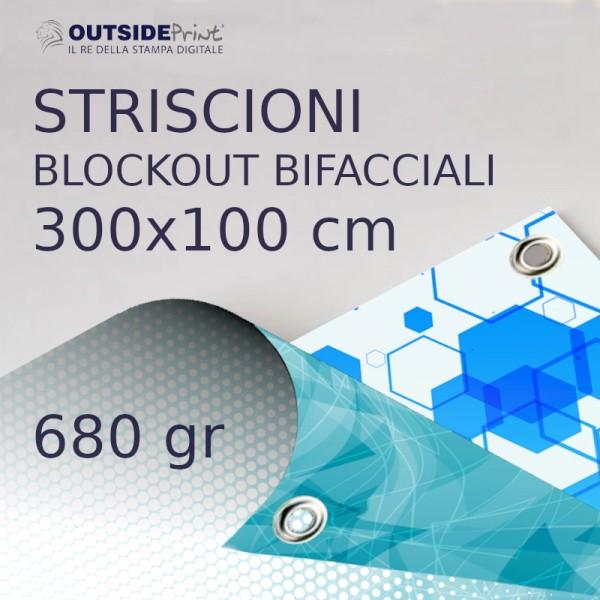 Stampa online Blockout bifacciale 680gr 300x100