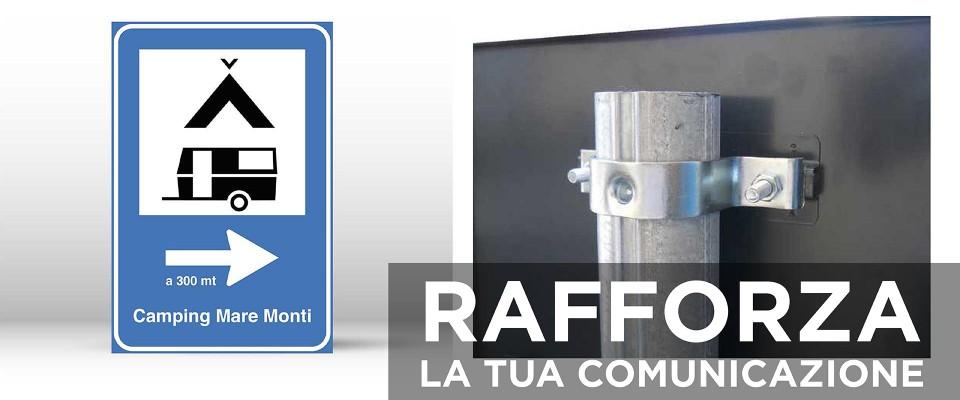 Cartello Segnaletico per CAMPEGGIO 60x90 cm personalizzato