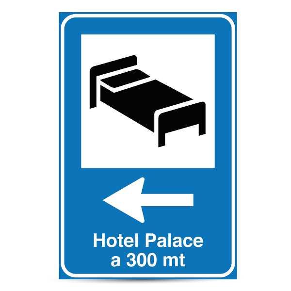 Stampa Cartello Segnaletico per HOTEL 60x90 cm