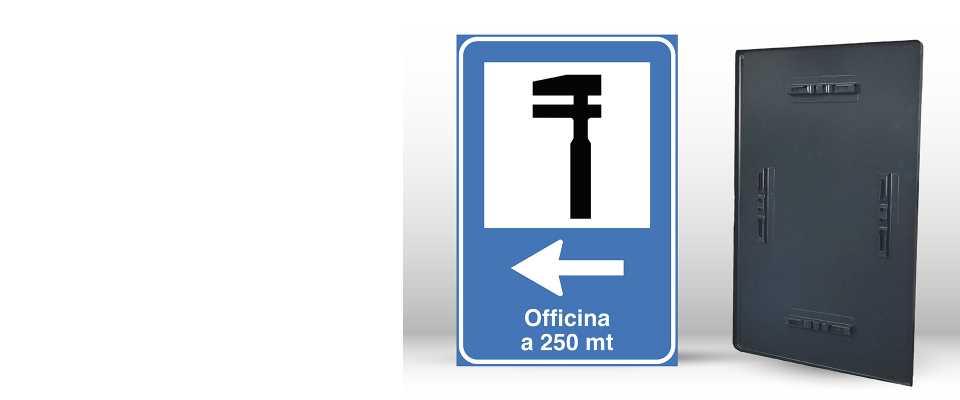 Cartello Segnaletico per OFFICINA 60x90