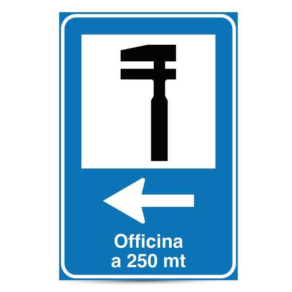 Cartello Segnaletico per OFFICINA 60x90 cm