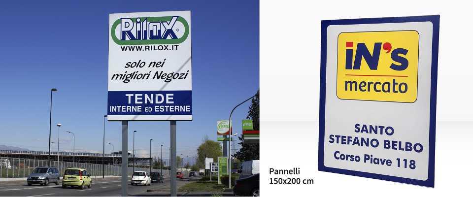 Cartello pubblicitario 150x200 personalizzato