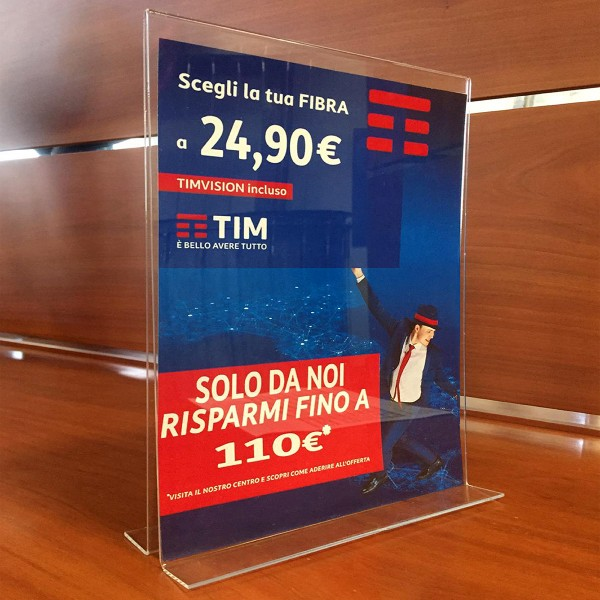 Display da banco Plexiglass A4 outlet