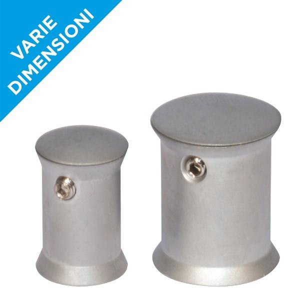 Distanziali targhe argento satinato con brugola