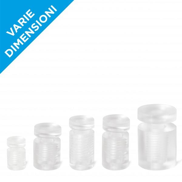 Distanziali targhe in plastica trasparente