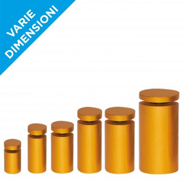 Distanziali targhe oro cromato