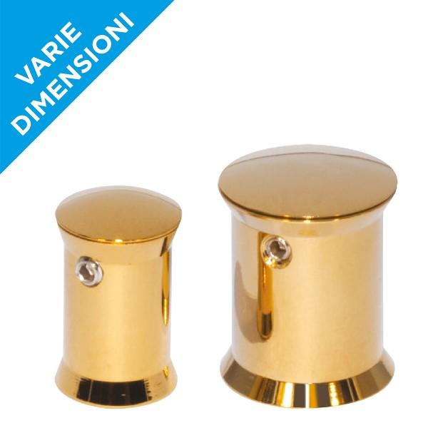 Distanziali targhe oro lucido con brugola