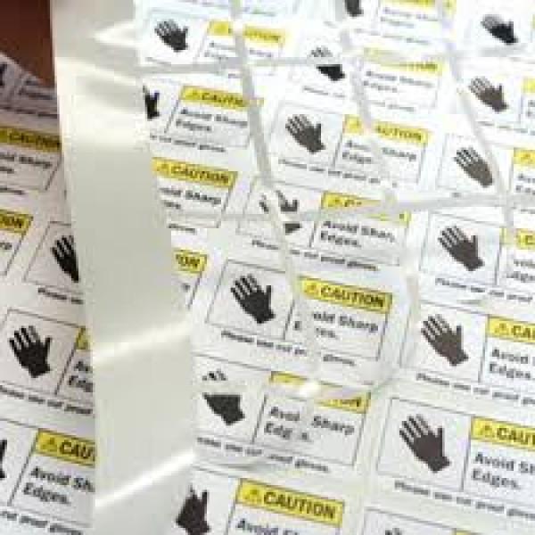 Foglio etichette adesive