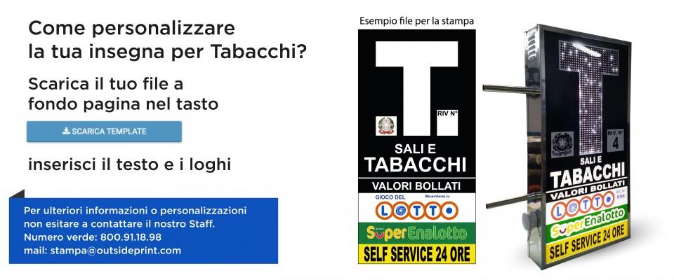 Insegna Tabacchi Animata a led online