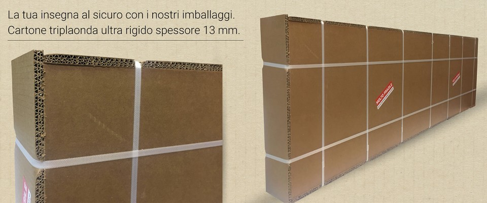 Insegna a bandiera 50x50 cm - Outlet