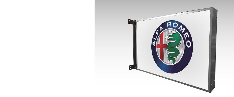 Insegna a bandiera 50x50 cm