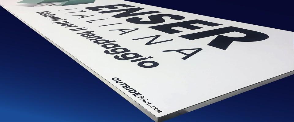 Insegna al vivo Monofacciale 200x70 cm personalizzata