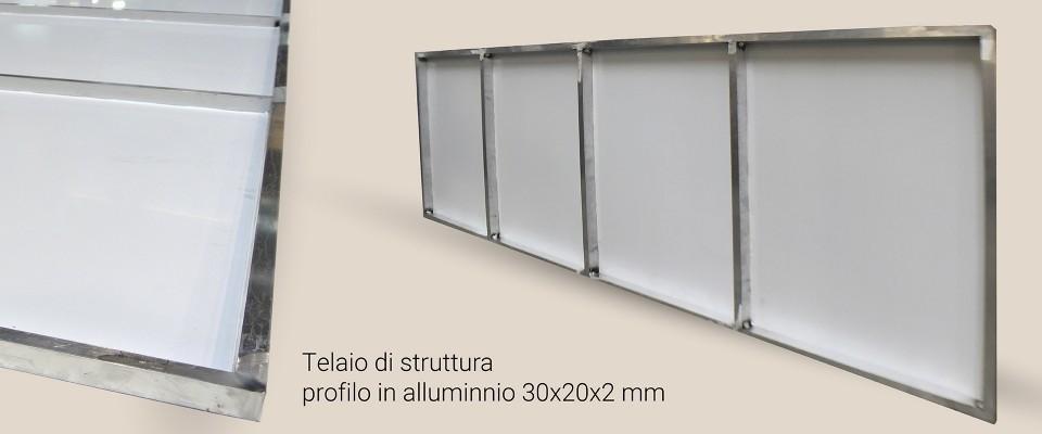 Insegna con cornice 250x50 cm - Outlet