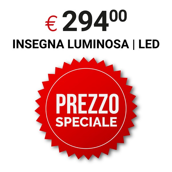 Insegna luminosa 200x50 cm
