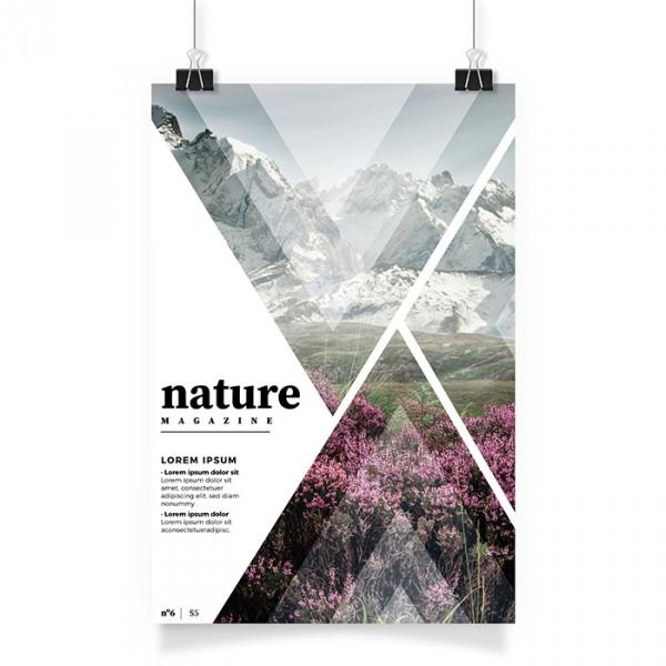 Poster white back