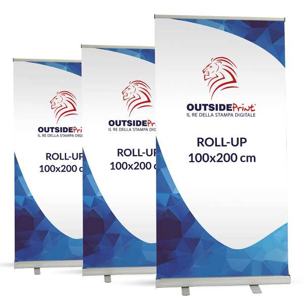 3 Roll-Up Basic 100x200 cm