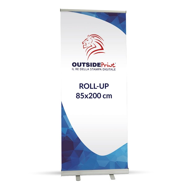 Roll-Up Basic 85x200 cm Espositore stampa compresa
