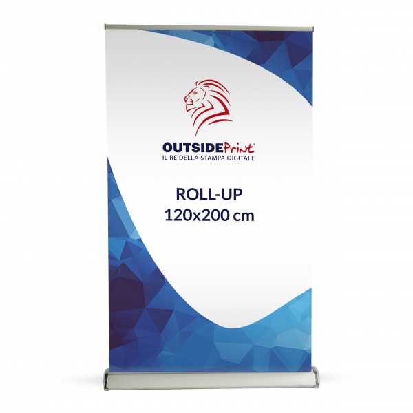 Roll-Up Deluxe 100x200 cm Espositore stampa compresa