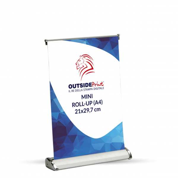 Stampa Roll-Up Mini 21x29,7 banner avvolgibili banner roll up banner roll up stand banner roller up espositore roll up