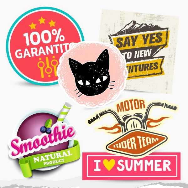 Stampa 100 Stickers personalizzati 10x10 cm