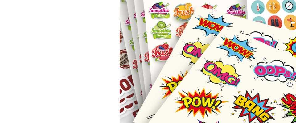 Stampa 100 Stickers personalizzati 10x10 cm online