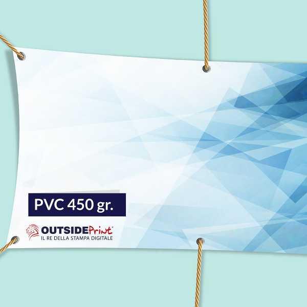 Stampa Striscioni 100x100 in PVC 450 gr