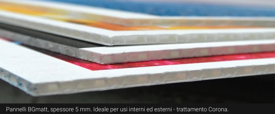 stampa su BGmatt pannelli in Bubble Guard Matt stampa online pannelli pubblicitari stampa digitale online stampa su Polipropilene stampa su pannello per display pannelli riciclabili