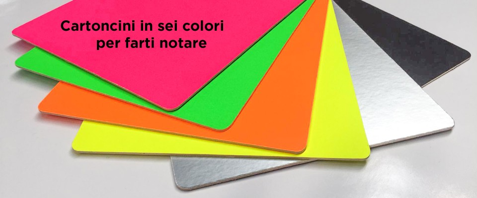 Stampa su cartoncino colorato