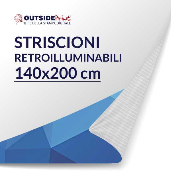 Striscione in PVC 140x200 cm retroilluminabile personalizzata