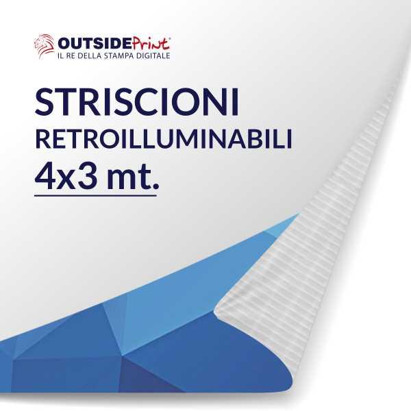 1 Striscione in PVC 4x3 mt retroilluminabile
