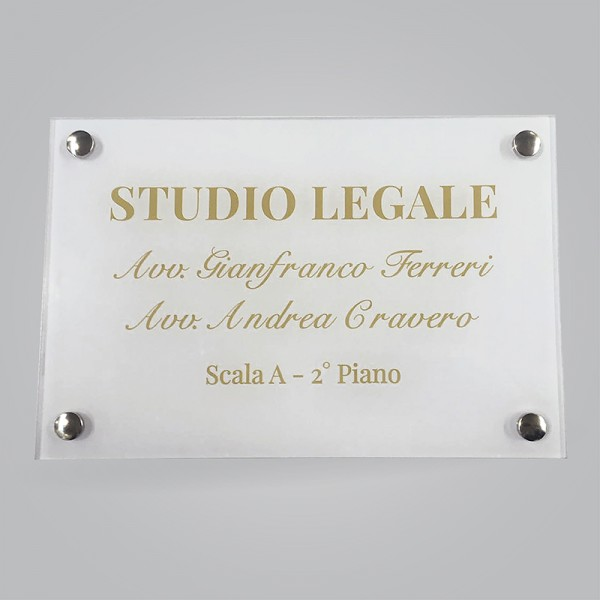 Targa 40x30 in Plexiglas® 5 mm
