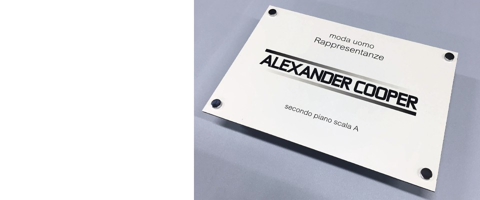 Targhe 40x30 in Alluminio/Dibond online