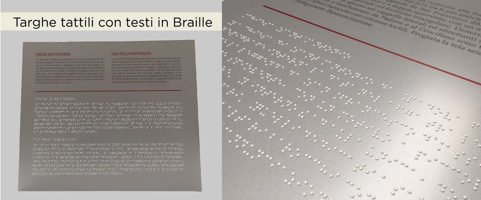 Targhe in Braille tattili