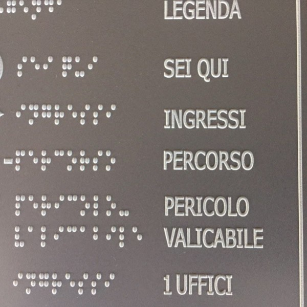 Targhe in Braille