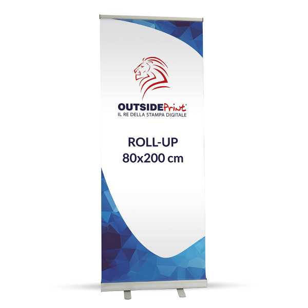 Roll-Up Basic 80x200 cm Espositore  + Stampa