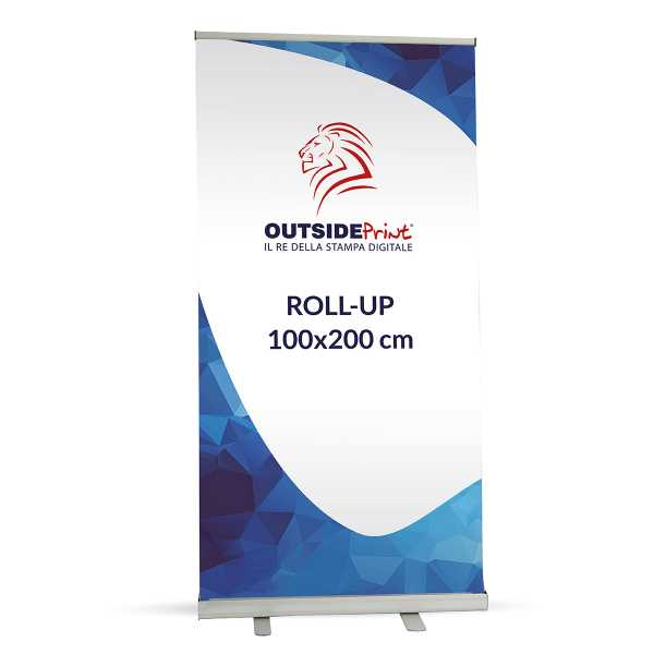 Roll-Up Basic 100x200 cm Espositore stampa compresa