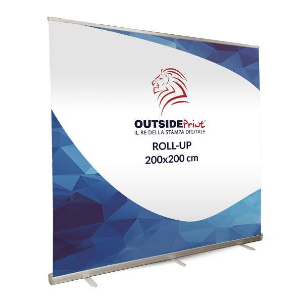 Roll-Up Maxi 200x200 cm Espositore  + Stampa