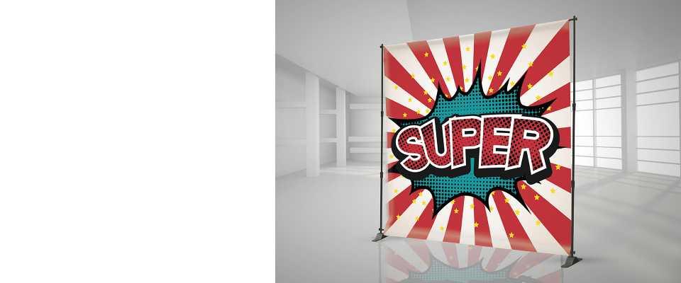 Banner a parete 240x240 cm Personalizzato