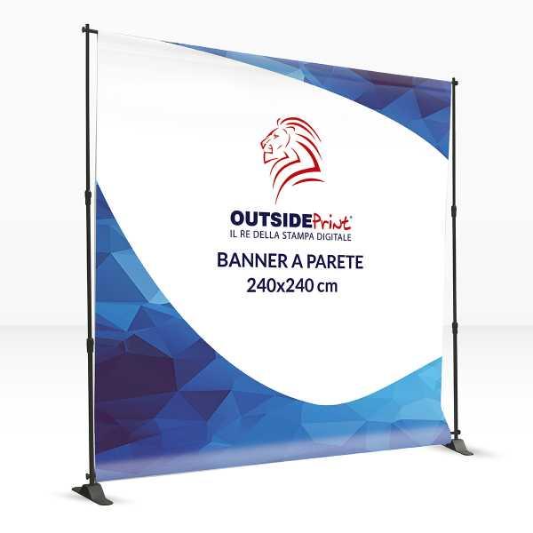 Banner a parete 240x240 cm