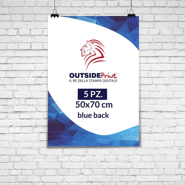 5 Manifesti 50x70 blue back