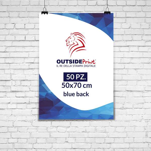 50 Manifesti 50x70 blue back