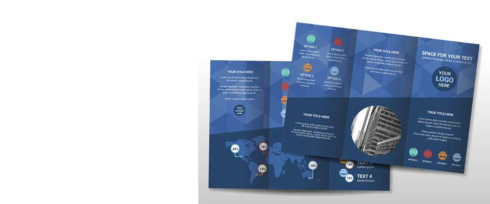 Personalizzati 500 Pieghevoli Depliant 2 Ante formato A4 (29,7x21 cm)