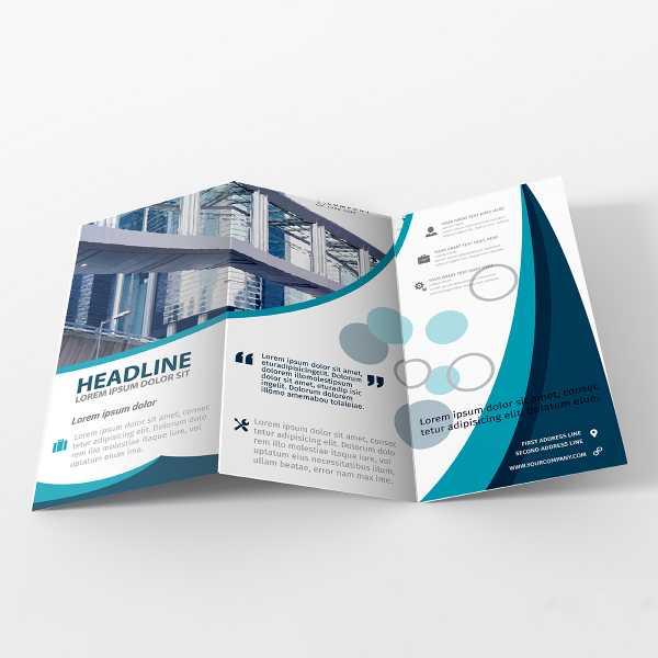 Online 5000 Pieghevoli Depliant 2 Ante formato A4 (29,7x21 cm)