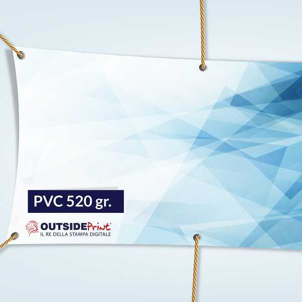 Stampa Striscioni 300x100 in PVC 520 gr