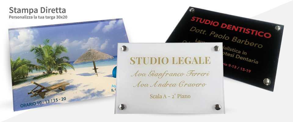 Personalizzati Targa 30x20 in Plexiglas 5 mm
