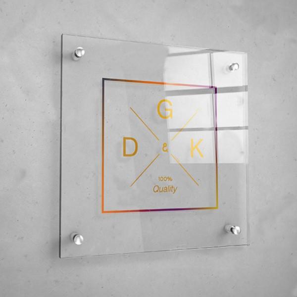 Personalizzati Targhe in Plexiglas Quadrate